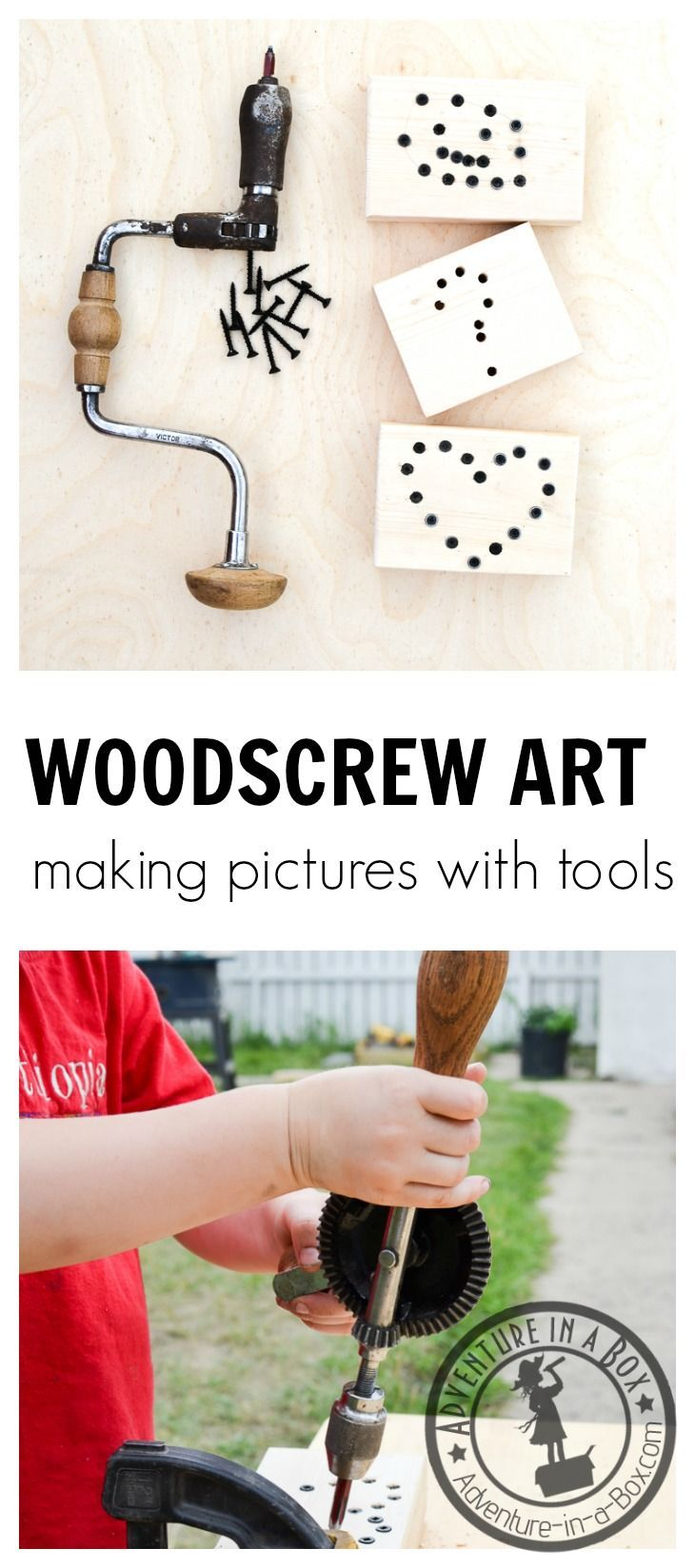 Woodscrew Art: Introduce children to screwdriving tools while making rustic and quirky woodscrew art. Simple Montessori-inspired steps.…