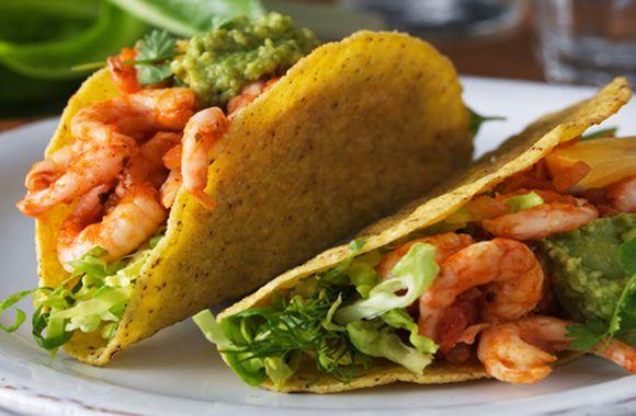 Tacos med rejer