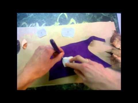 Как сделать брошь из кожи в виде цветка. Часть I - YouTube