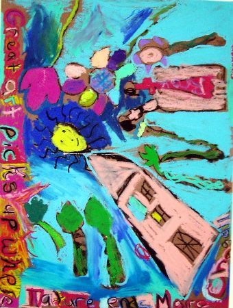Art Lesson Plan: Chagall - Oil Pastels Drawing
