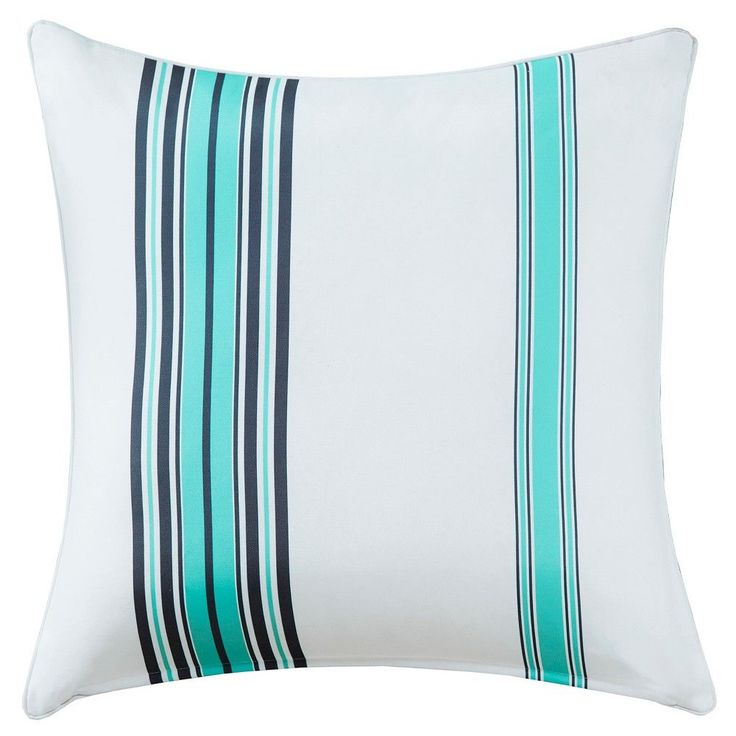 Ventura Printed Stripe 3M Scotchgard Outdoor Pillow Blue/White - 14x20,