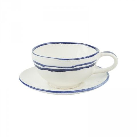 Striped Cup and Saucer