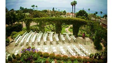 Our Venue! The Thursday Club ocean view garden wedding ceremony