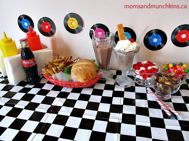 Retro Diner Party Ideas - free printable invitations plus ideas for decor, food & activities.