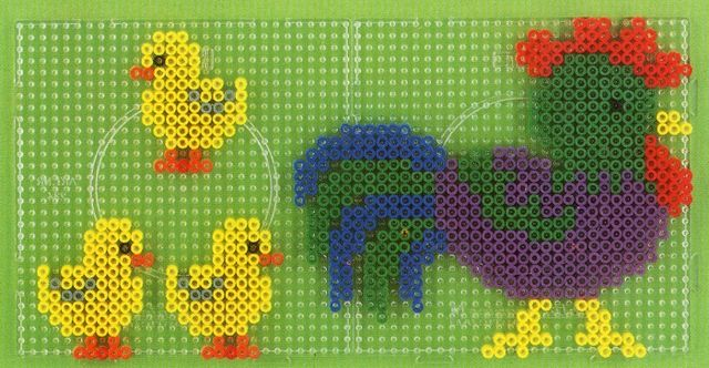 Rooster hama perler beads - DOMINELLE DECOUPAGE