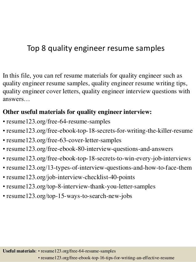 Quality Control Engineer Resume Format Resume format, Cv