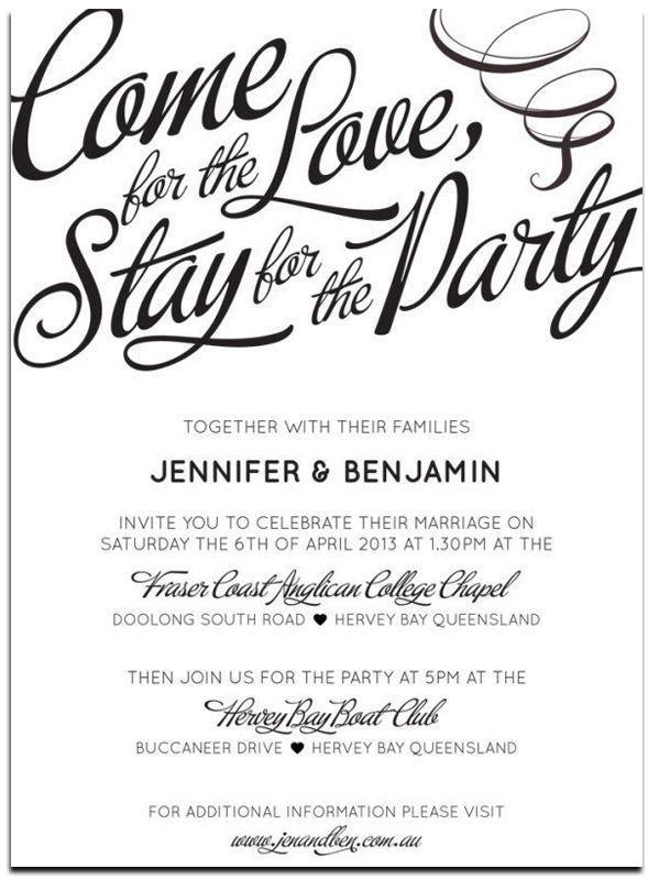 Wedding Invitation Wording Together Wedding Invitations Wedding Invitatio In 2020 Wedding Party Invites Casual Wedding Invitations Wedding Invitation Wording Examples