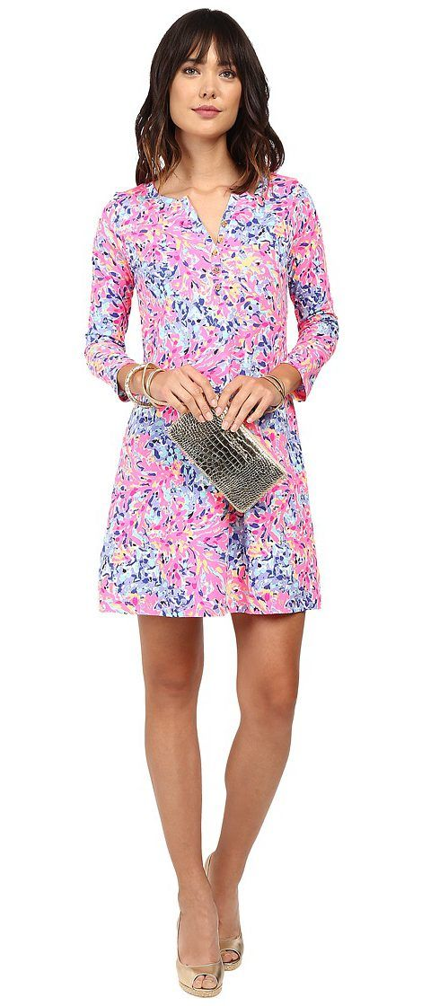 Lilly Pulitzer Banyan Dress (Multi Coco Coral Crab) Women's Dress - Lilly Pulitzer, Banyan Dress, 23913-999PE8, Apparel Top Dress, Dress, Top, Apparel, Clothes Clothing, Gift - Outfit Ideas And Street Style 2017
