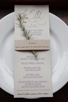 Menú en la mesa-