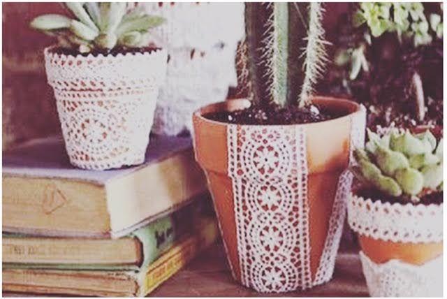 decorare vecchi vasi di terracotta