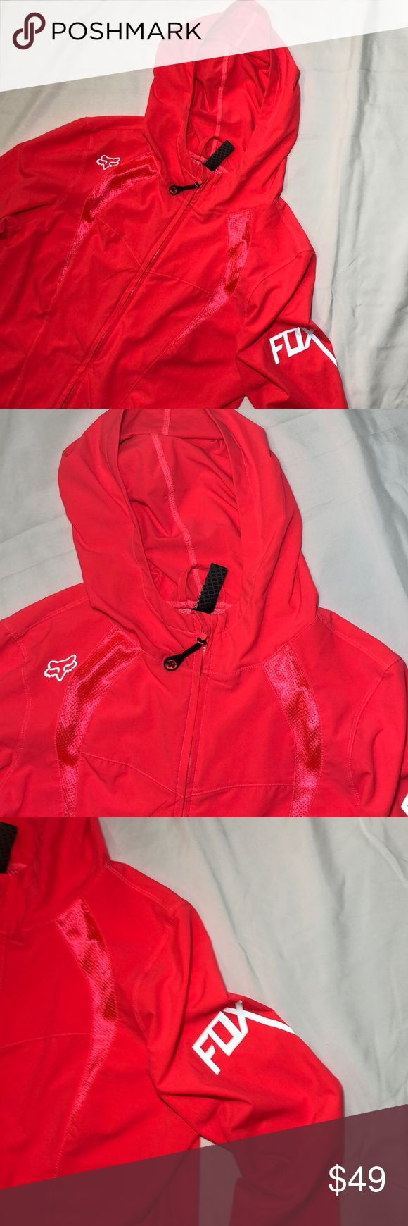 Fox Racing Womens Active Lightweight Jacket Medium This is a barely worn Fox Racing Womens Active Lightweight Jacket Medium. Only used a handul of times, in excellent condition.  Size is medium. Color bright pink/salmon. Fox Jackets & Coats Utility Jackets