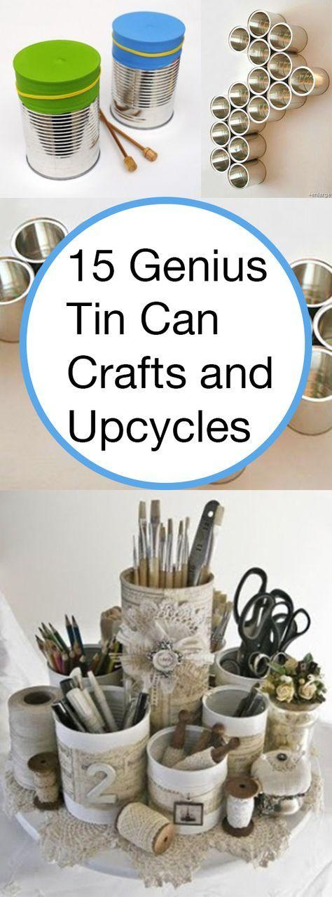 15 genius tin can crafts and upcycles mobile home pinterest hofladen und basteln. Black Bedroom Furniture Sets. Home Design Ideas