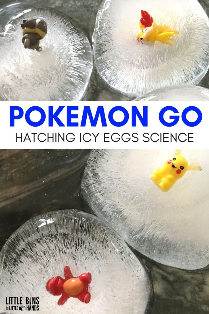 Hatching Pokemon Eggs Go Ice Melt Science Activity