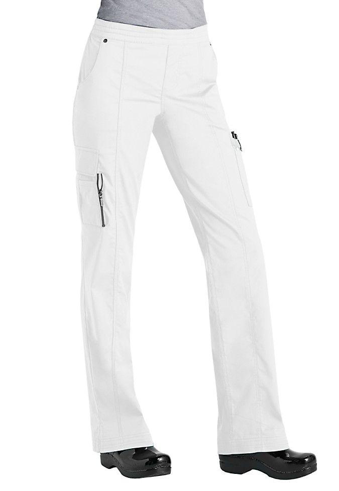 Beyond Scrubs Blaire utility inspired scrub pants in White | Scrubs & Beyond