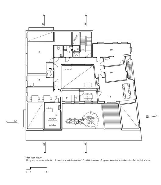 Kindergarden,Floor Plan