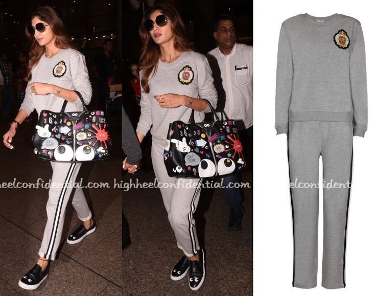 Shilpa in Monisha Jaising, Anya Hindmarch tote, Celebrity fashion, Bollywood Style, Fashion, Indian Celebrity, Bollywood Style, Bollywood Fashion, Indian Fashion