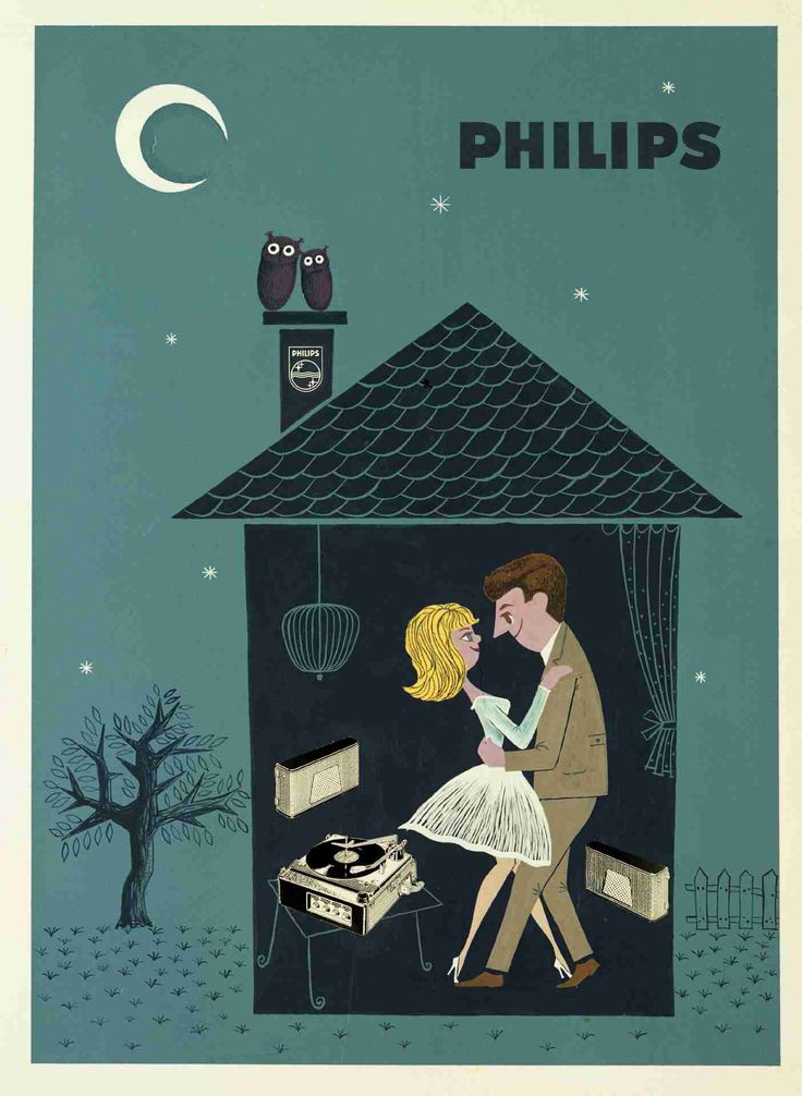 A 1960 vintage Philips gramophone ad.