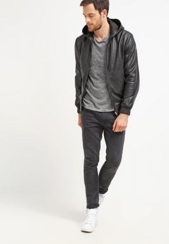 #Pier one giacca di pelle black Nero  ad Euro 160.00 in #Pier one #Uomo abbigliamento giacche