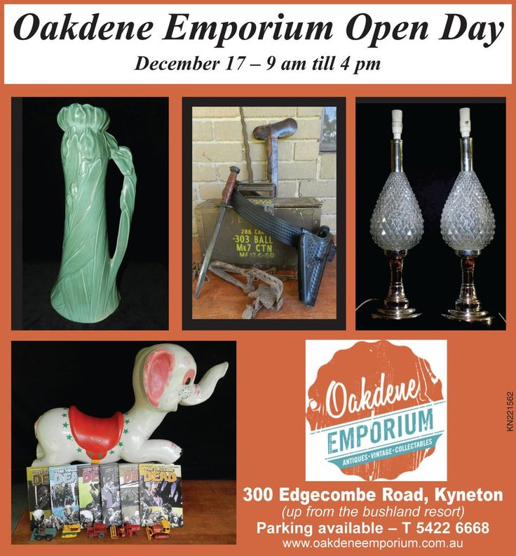 Oakdene Emporium is having its Open Day this Sat, 17 Dec!
