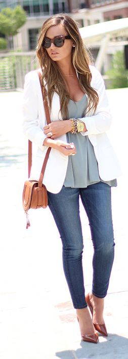 White Boyfriend Blazer by For All Things Lovely
