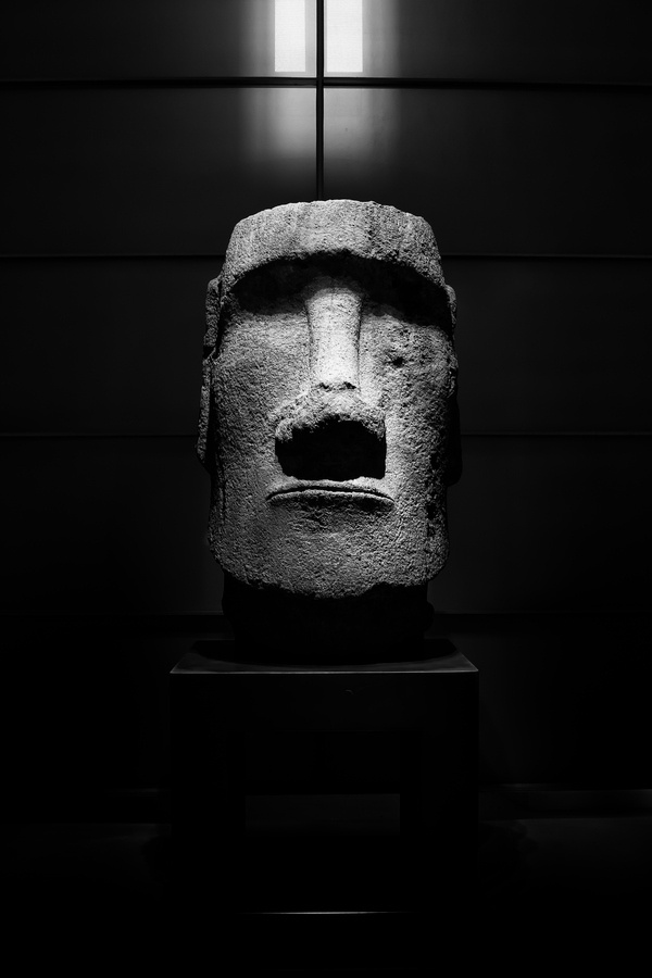 a moai one of the giant statues of elongated heads on easter island will is in paris. Black Bedroom Furniture Sets. Home Design Ideas