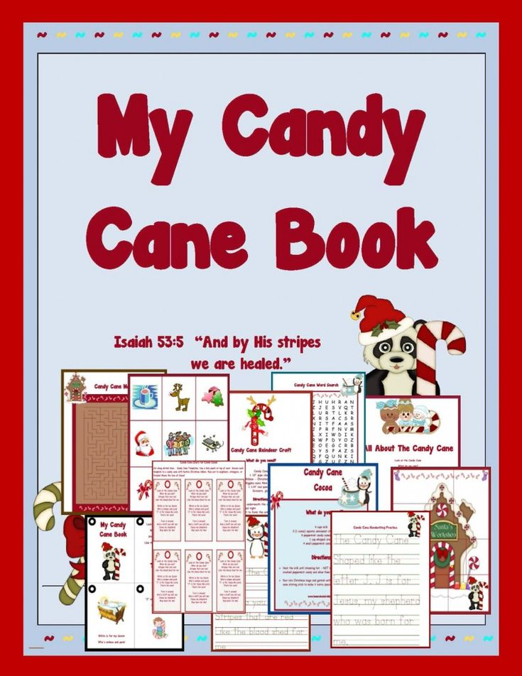 "The Candy Cane - Printable Pack / Isaiah 53:5 ""And by His stripes we are healed."" /  Included/Candy Cane Printable Book, Bible Flash Cards, Letter C Handwriting, Jesus is the Reason for the Season - Bible Reading from Luke, The Legend of the Candy Cane, Printable Puzzle, Candy Cane Number Activity, Letter C Printable Activities,  Word Search, Candy Cane Cocoa, Candy Cane Reindeer Craft, Candy Cane Fudge, Maze, Candy Cane Pattern Activity, Printable Tags for Candy Canes - Share the GOOD NEWS!"