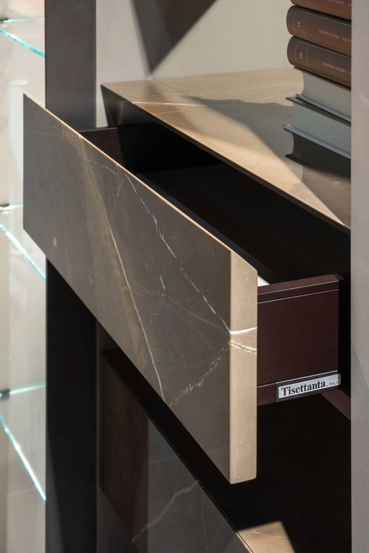 METROPOLIS EVO Divider bookcase by Tisettanta design Paolo Zanotto