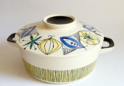 Retro Pottery Net: Auction Find, Stavangerflint Bambus Flamingo , Inger Waage