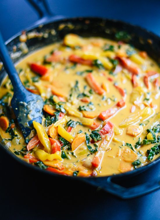 This Thai red curry with vegetables is the best! cookieandkate.com