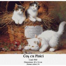 Cos cu pisici