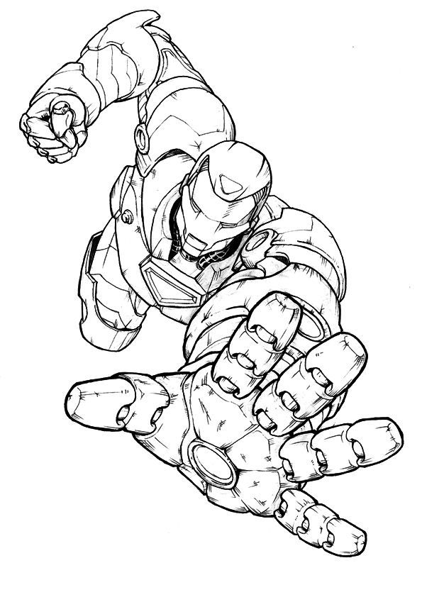 coloring page iron iron mannen
