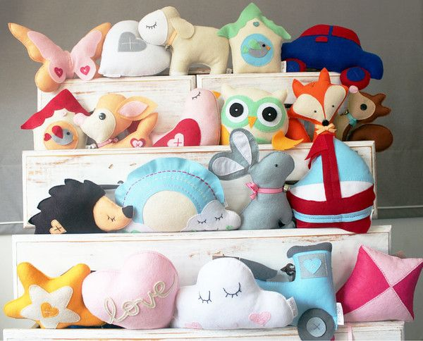 Kids Designer Cuddle Cushions part of the Heartfelt Ruby Melon Collection