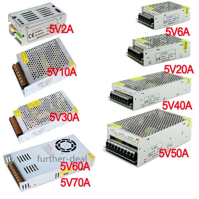 Ac 110v 220v To Dc 5v 12v 24v Switch Power Supply Driver Adapter Led Strip Light Led Strip Lighting Strip Lighting Dc 5v