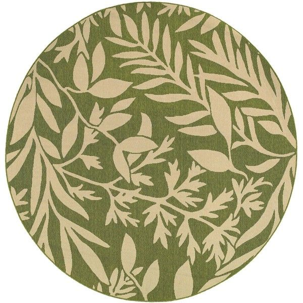 Attractive Tommy Bahama Seaside 7.10 Ft. Round Indoor/Outdoor Rug By Oriental...  Tropical ...
