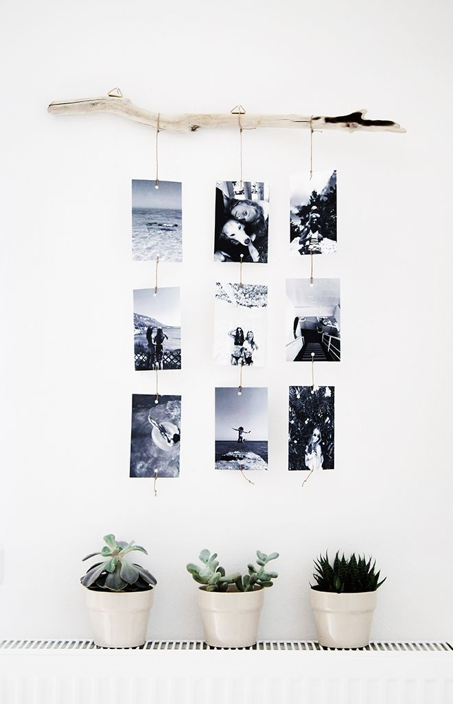 rustic photo hanging inspiration