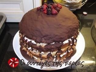 Ένα πανεύκολο γλυκάκι που γίνεται γρήγορα και είναι πολύ εντυπωσιακό. Η συνταγή είναι απο την ιστοσελίδα του Αγγλικού σουπερμάρκετ Sainsbury's.