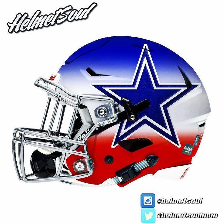 Red white & blue dallascowboys helmet