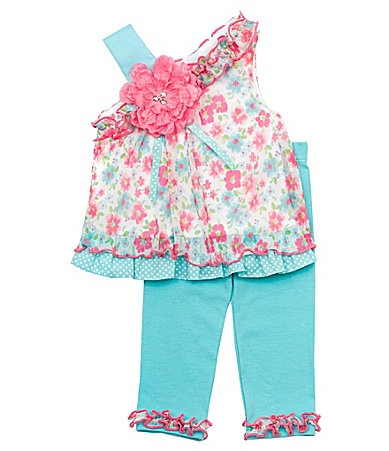 Rare Editions Newborn OfftheShoulder Floral Top and Leggings Set #Dillards