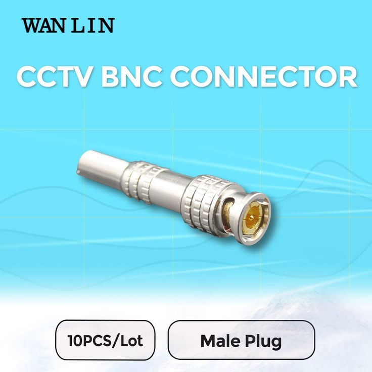 3.63$  Buy now - http://alitdh.shopchina.info/go.php?t=32713132789 - WANLIN 10pcs CCTV BNC Connector Solder Less Twist Spring BNC Connector Jack for Surveillance Accessories  #magazine