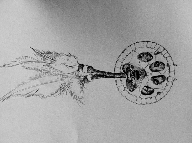 wolf dreamcatcher drawing related - photo #23