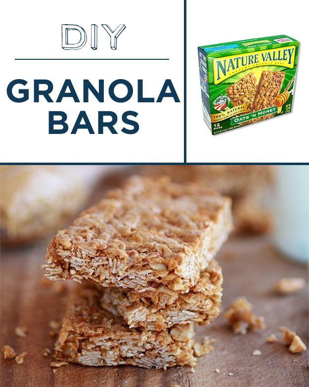Bake granola bars with less sugar and no preservatives. | 30 Foods You'll Never Have To BuyAgain