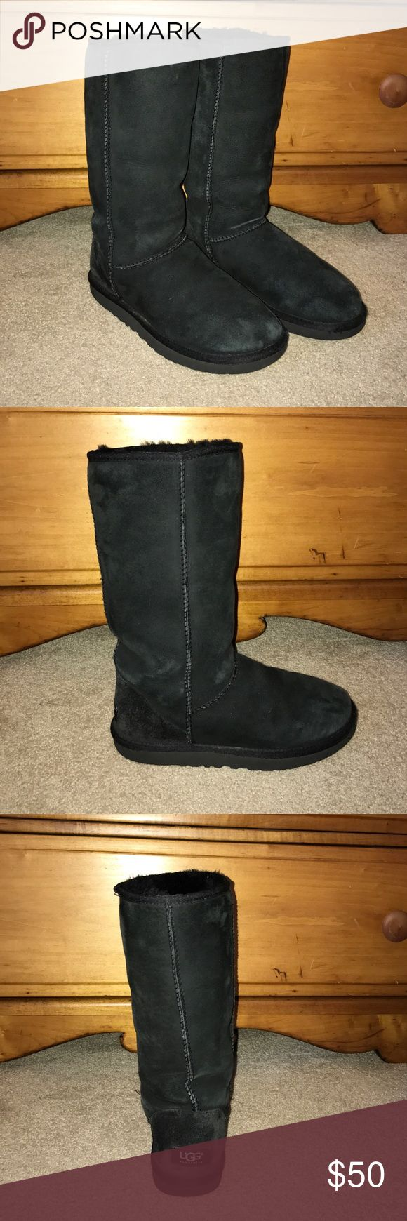 Black Tall UGG Boots Women's black tall UGG boots UGG Shoes Winter & Rain Boots