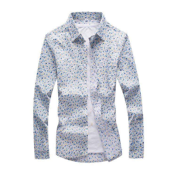 >> Click to Buy << M-5xl!!! Plus Size Camisa Masculina Social Men's Fashion Design Camisas Masculinas Manga Comprida Plus Size Floral Shirts Men #Affiliate