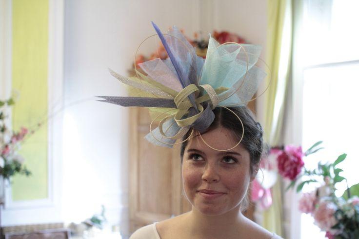chapeau de mariage camaieux d e bleus www.un-chapeau-a-auteuil.fr