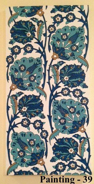 turkish tile design art paintings by LalemUSA on Etsy