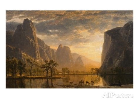 Valley of the Yosemite Giclee Print by Albert Bierstadt at AllPosters.com