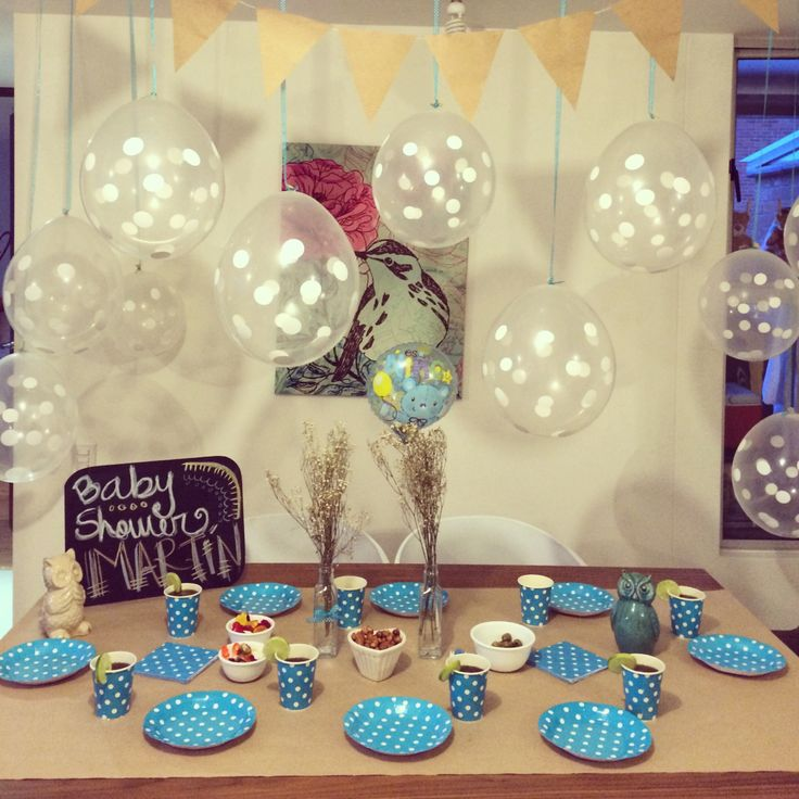 Baby shower · dots · azul·blue