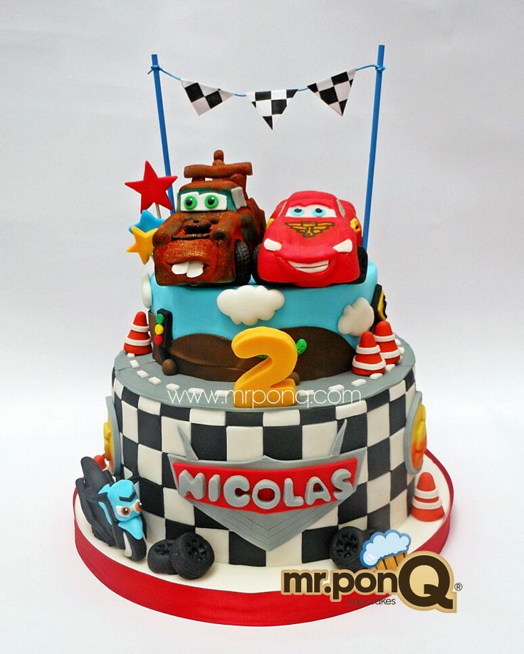 Torta Cars Con Mate Y Rayo. Mr.ponQ