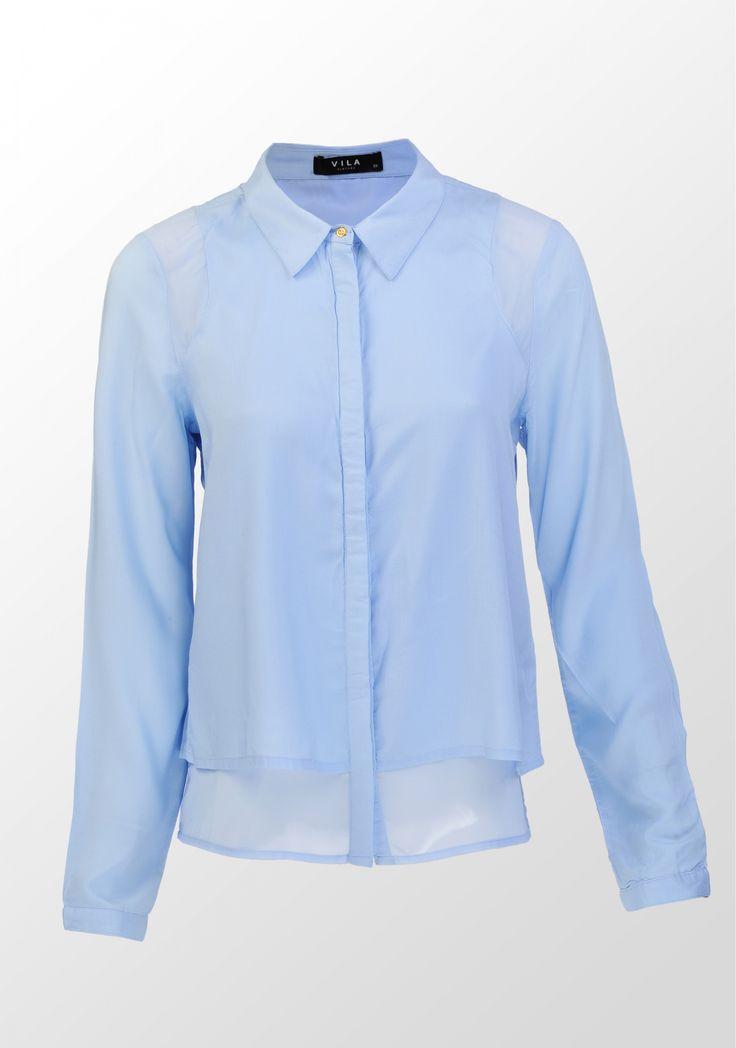 Vila, cămașă stratificată, bleu