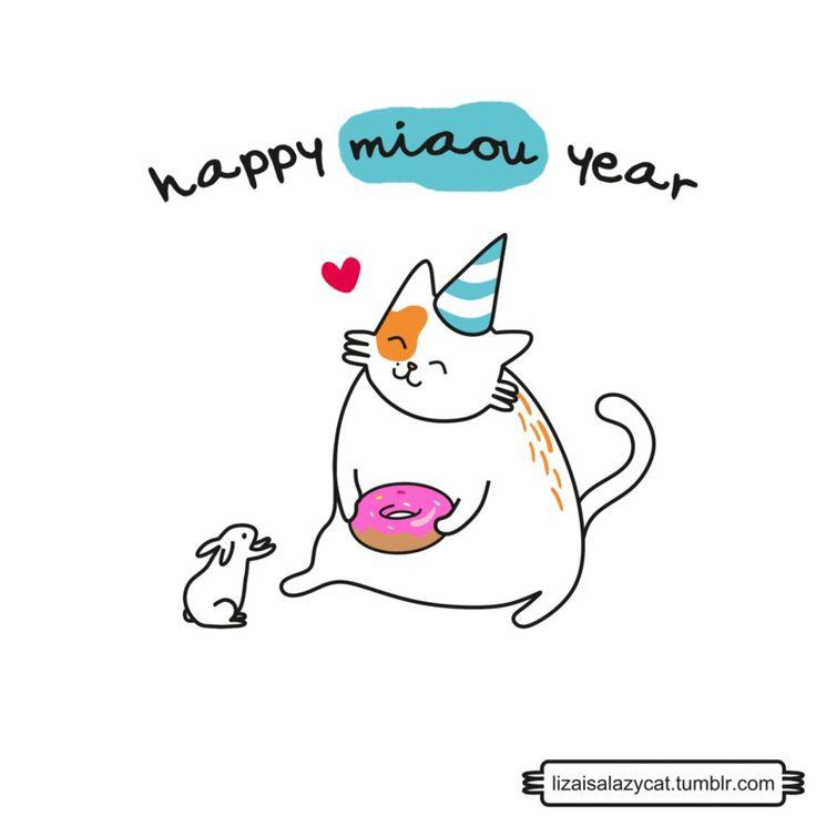 happy miaou year       from lizaisalazycat.tumblr.com